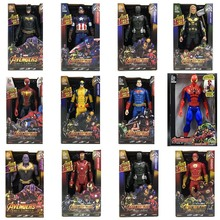 30cm avengers iron man Captain America Thor Thanos Spiderman Aquaman flash superman Falcon Ant-Man Vision PVC action figure toys