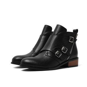Image 4 - MORAZORA 2020 top quality genuine leather ankle boots for women zip buckle autumn winter booties fashion dress shoes woman