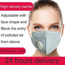 Reusable N95 Mask – Valved Face Mask KN95 Protection Face Mask FFP3 FFP2 FFP1 Mouth Cover PM2.5 Dust Masks 6 Layers Filter  N95