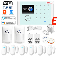 Tuya APP IOS Android APP Control Wireless Home Security GSM Alarm System Support all 433MHz Detector Alarm Alarm System for home