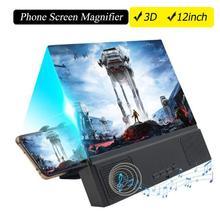 Besegad 12 pouces 3D HD téléphone écran amplificateur loupe film vidéo projecteur avec Bluetooth fer de lance cadre Photo puissance Mobile