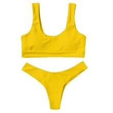 2021 nova venda quente à moda sexy vintage verão senhora simples cor sólida dividir maiô biquíni кbikini bikini bikini 2021