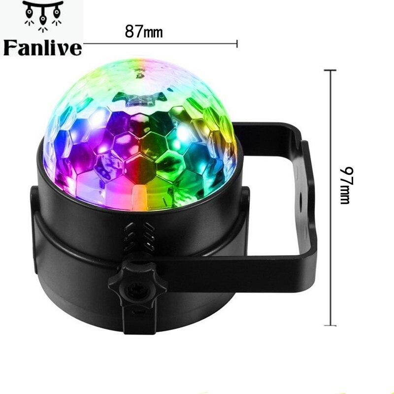 10 stücke Fernbedienung RGB LED Kristall Magie Rotierenden Ball Bühne Licht AC110-240V Sound Aktiviert KTV DJ Disco Party Wirkung licht