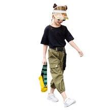 소녀를위한 여름 옷 솔리드 셔츠 + 바지 소녀를위한 2PCS 의상 10 대 어린이 여름 옷 6 8 10 12 13 14 년
