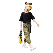 Summer Clothes For Girls Solid Shirt + Pants 2PCS Costume For Girls Teenage Kids Summer Clothes 6 8 10 12 13 14 Year