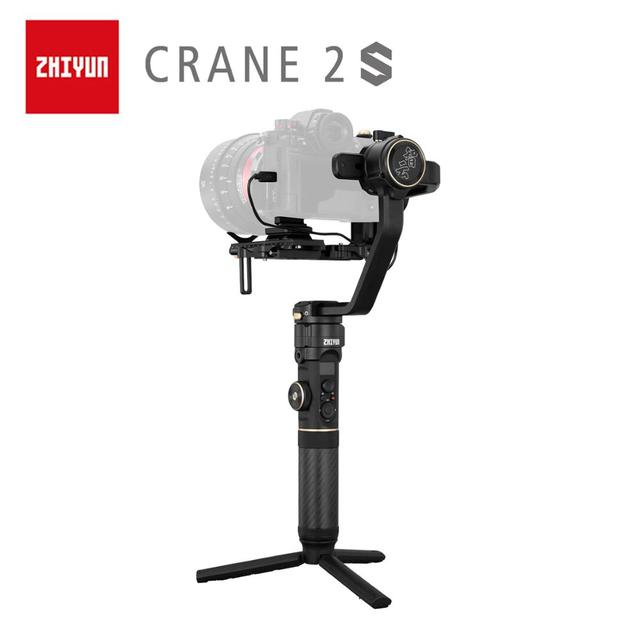 ZHIYUN resmi vinç 2S/COMBO/PRO el sabitleyici kamera Gimbal DSLR Sony Canon BMPCC Fujifilm kameralar dikey ateş