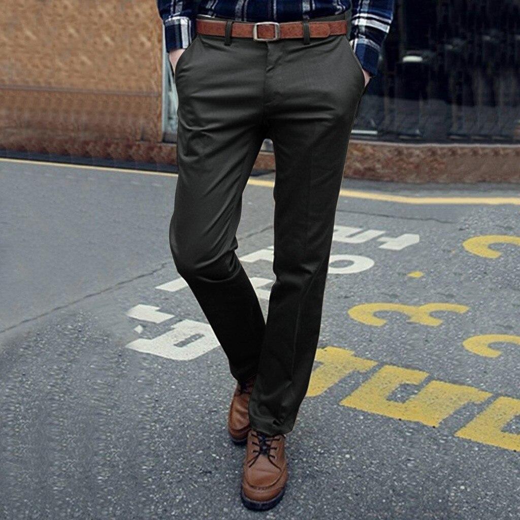 Fashion Pants Men Casual Slim Solid Business Zipper Long Pants Suit Pants Trousers Pantalones Hombre Wholesale Free Shipштаны Z4