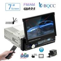 Car Radio Mp5 Player MP3 Autoradio Bluetooth 7Inch HD 1 Din Touch Audio Stereo Auto Reverse image Mirrorlink FM/AM