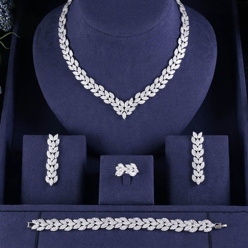 H6b02798cb8c143bc813159e2c95b5a7au jankelly Hotsale Nigeria 4pcs Bridal Jewelry Sets New Fashion Dubai Full Jewelry Set For Women Wedding Party Accessories Design