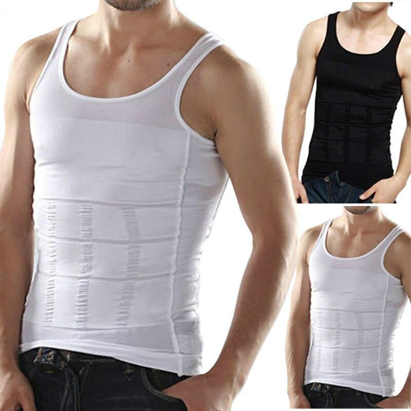 2020 Для мужчин для похудения Body Shaper животик Корректирующее белье сжигание жира жилет моделирующее белье корсет для талии Облегающая рубашка...