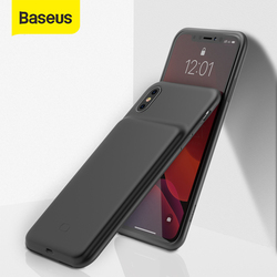 Baseus Battery Charger Case For iPhone X Xs Xs Max Xr Powerbank Case External Battery Charging Pack Backup Case For iPhone X Xs
