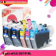 5 шт lc3219 lc3219xl совместимый полный картридж для brother
