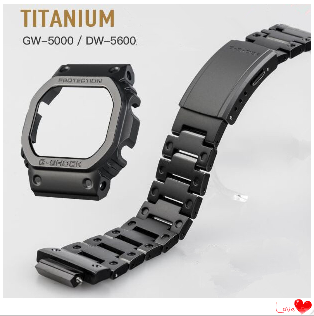 High Quality! Titanium Watch Bezel and Band for <font><b>DW5000</b></font> 5600 5035 Generic Free Shipping image