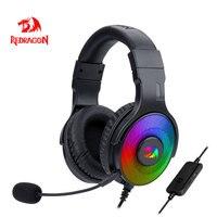 Redragon Pandora H350 RGB Gaming cuffie 7.1 USB Surround sound cuffie auricolari con microfono per PC