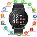 2019 di Smart Watch CW8 Delle Donne Degli Uomini di Misuratore di Pressione Sanguigna di Ossigeno Monitor di Frequenza Cardiaca di Sport Tracker Smartwatch IP68 Collegare Ios Android