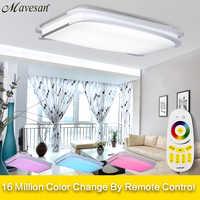 Plafonniers modernes pour chambre à distance ou interrupteur mural plafonniers pour salon pour 15-25square mètres 90 V-260 V plafonnier
