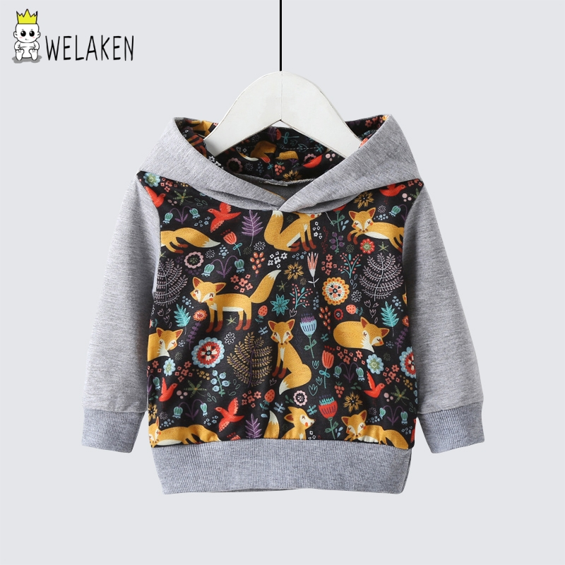 Welaken New Cartoon Fall Long Sleeve Sweatshirts For Boys Baby Clothes Children Clothes Baby Boy Toddler Boy Clothes Winter