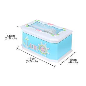 Saim Clockwork Music Box Rotating Dancing Music Box Home Decoration Creative Gift Jewelry Storage Organizer