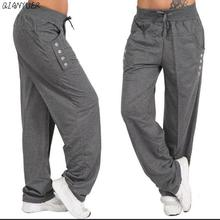 Plus Large size Women Casual Fitness Sweatpants Baggy Wide Leg