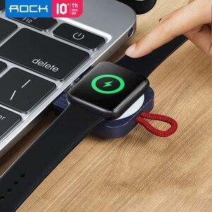 Image 2 - Chargeur sans fil magnétique pour Apple Watch Series 5 4 3 Portable 100% ROCK Qi USB sans fil 2.5W station daccueil de charge pour iWatch 애플치 전전