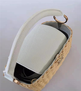 Image 5 - 2020 Rattan Knit Leather Lady Bag Rattan Knit Tote Cross Body Bag