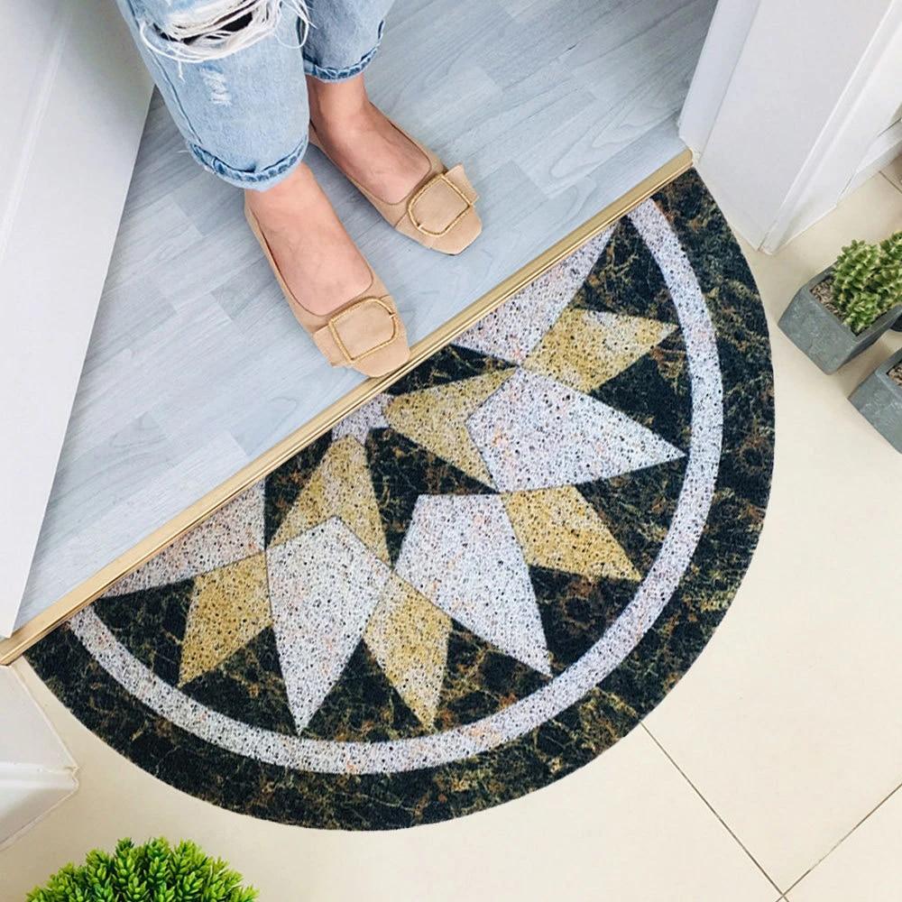 paillasson antiderapant motif marbre 30x60cm tapis de sol absorbant pour porte d entree et porte de salle de bain