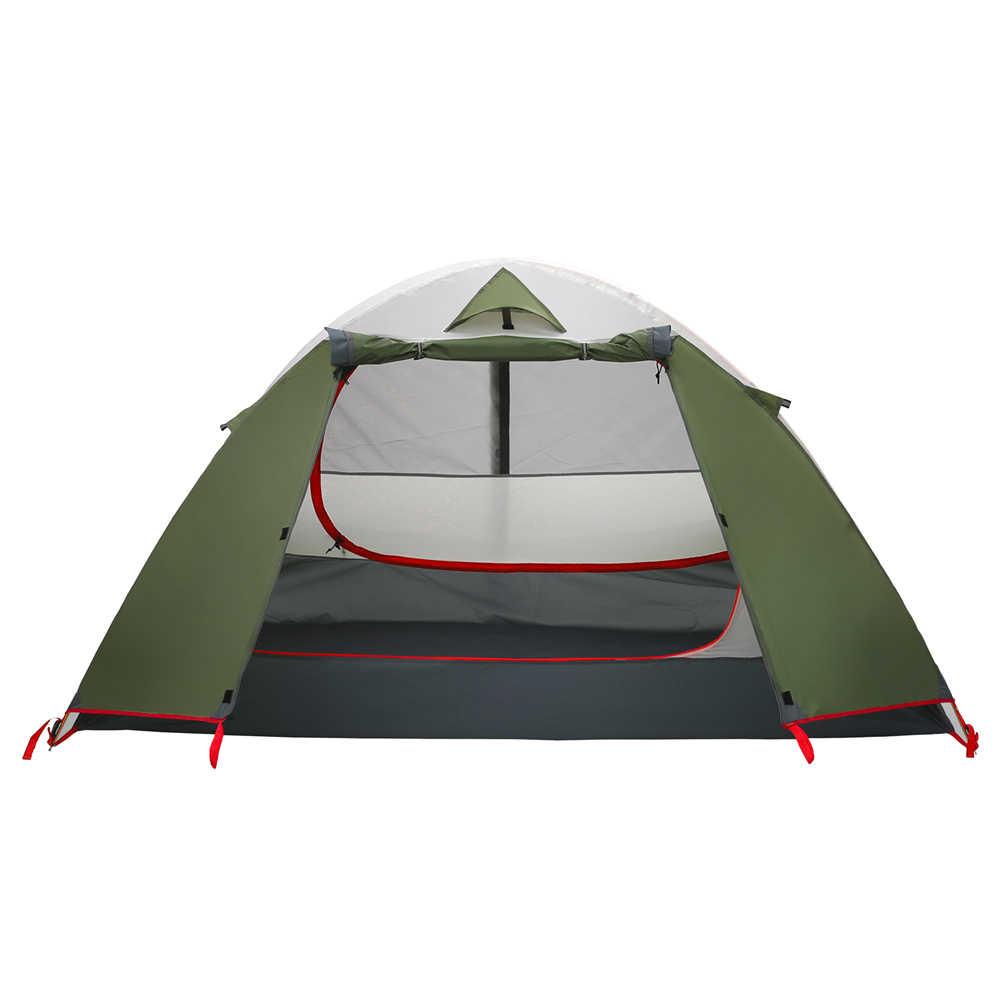 2 kişi Ultralight Açık Kamp Çadırı Alüminyum Çubuk Çift Katmanlı Su Geçirmez Taşınabilir Seyahat Çadır 3 mevsim Plaj Çadırları