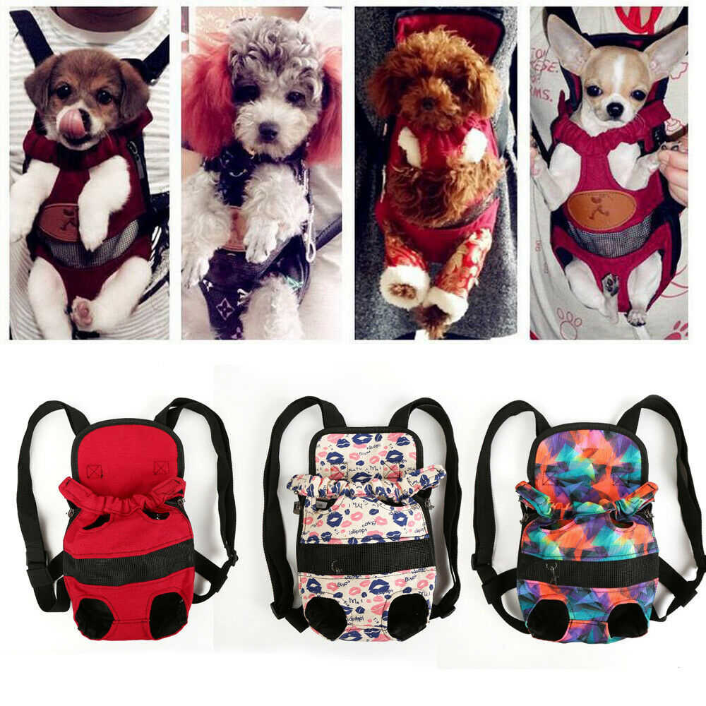 Portable Security Puppy Small Dog Carrier Travel Front Back Backpack Carrying Pouch Bags