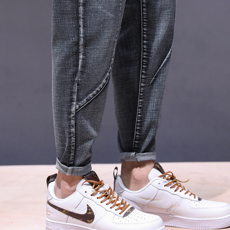 KSTUN haren jeans men motorcycle jeans streetwear drawstring elastic waist loose feet Pants outdoor leisure riding jeans joggers 20