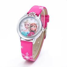 Nowa księżniczka zegarki dla dzieci dla dziewczynek skórzany pasek śliczne dzieci Cartoon zegarki na rękę prezenty dla chłopców tanie tanio POPLOV 3Bar Moda casual QUARTZ ALLOY Klamra CN (pochodzenie) Szkło 22cm Nie pakiet 30mm Skórzane L1119 ROUND 15mm Odporny na wstrząsy