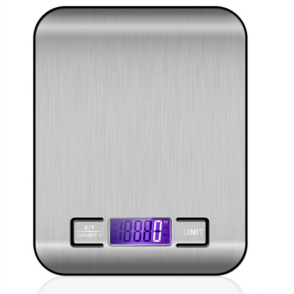 Stainless Steel Kitchen Scale font b Electronic b font Weighing 5Kg 10Kg Scales Measuring Tool Slim