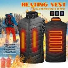 Для мужчин и женщин обновленный наружный USB Инфракрасный нагревательный жилет Зимняя верхняя одежда теплая куртка из углеродного волокна Электрический тепловой жилет