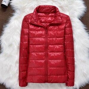 Image 3 - 2019 marke kleidung Frauen warme winter 90% Weiße ente unten jacke/Super licht dünne Parka Weibliche Ultra Licht Unten mantel Kurze Tops