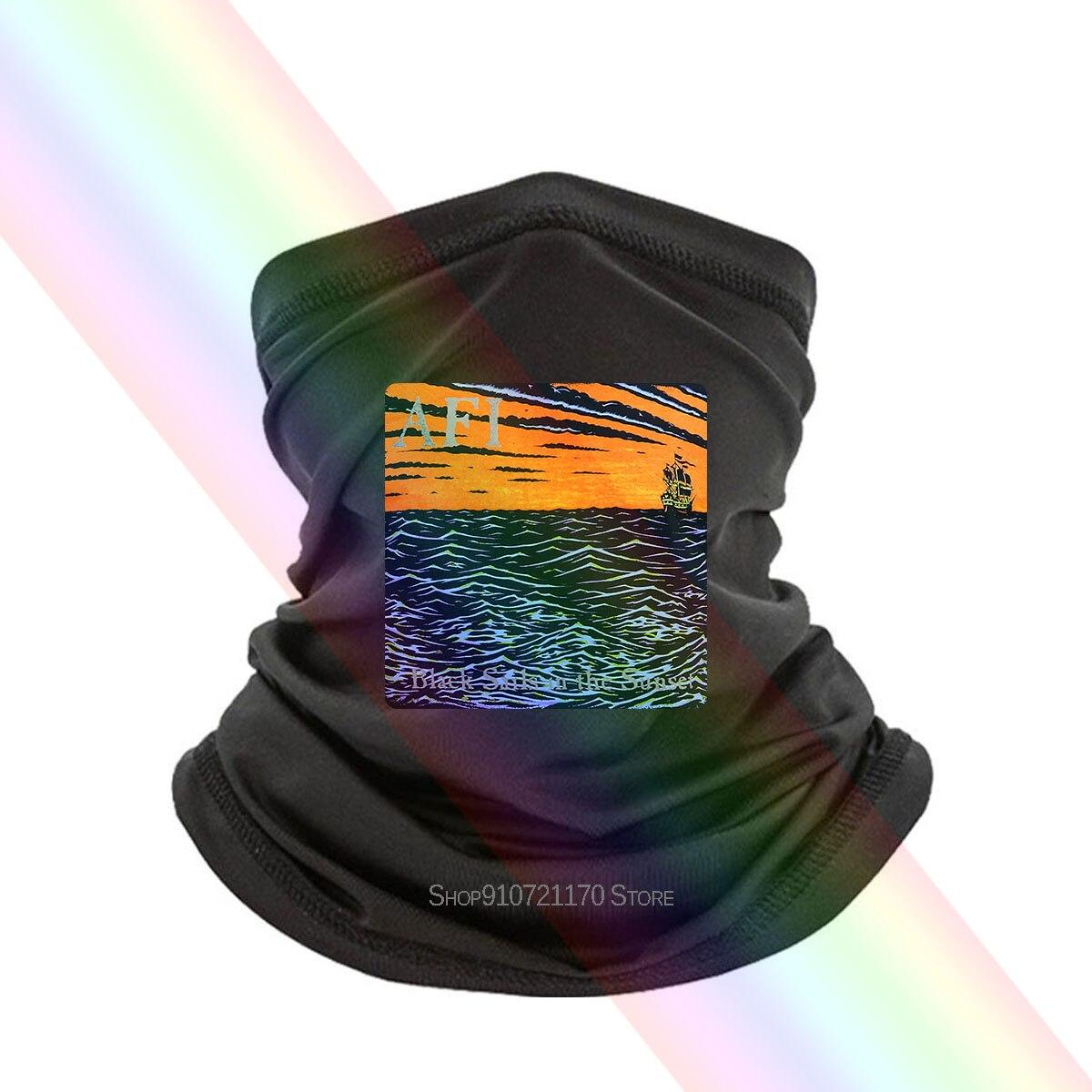 Afi-mascarilla con cubierta para álbum, pañuelo negro, S, M, L, Xl, 2Xl