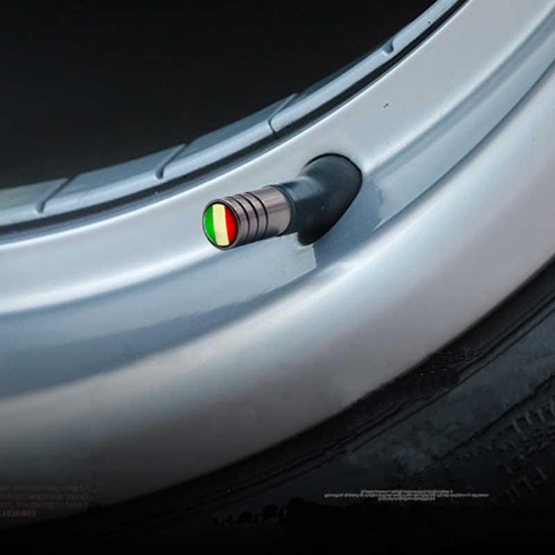 4 Buah/Banyak Bendera Italia Mobil Moto Ban Roda Valve Caps Ban Rim Mencakup Mobil Styling Batang Penutup Aksesoris Dekorasi