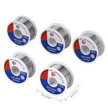 цена на JCD soldering wire 50g 0.6/0.8/1.0/1.2/1.5 MM 60/40 FLUX 2.0% 45FT Tin Lead Tin Wire Melt Rosin Core Solder Soldering Wire Roll