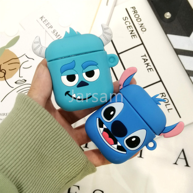Cute Soft Wireless Earphone Case For Apple AirPods 2 Silicone Charging Headphones Case for Airpods Protective Cover accessories 2