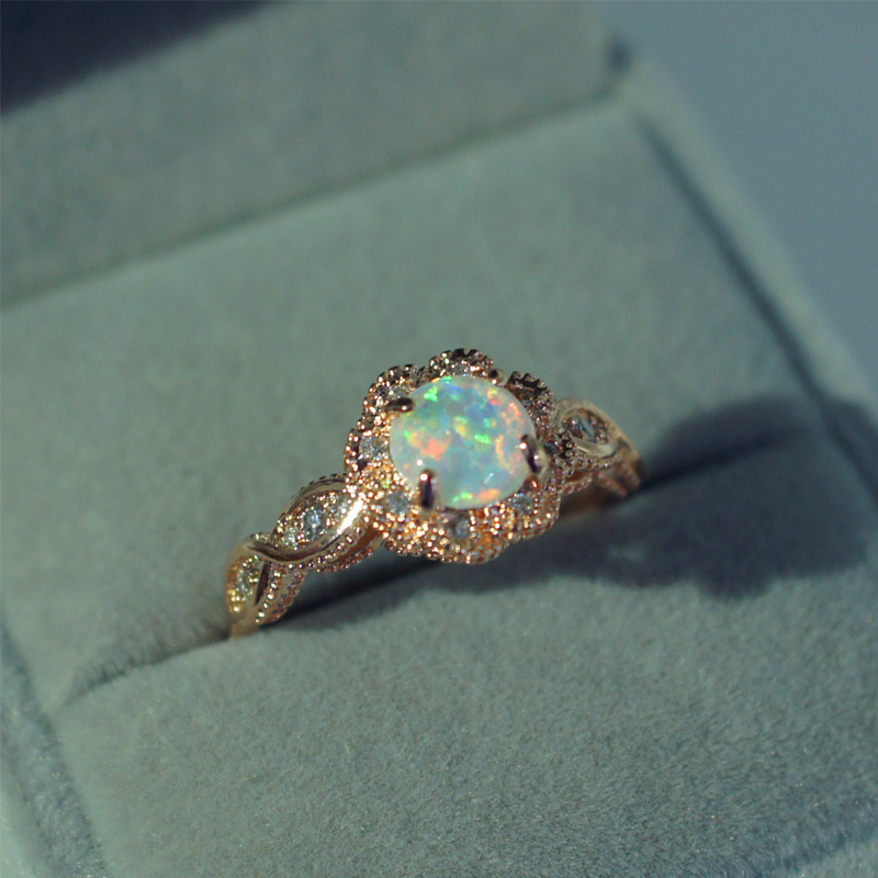 DODO gold color Fire Opal Rings For Women Jewelry Vintage Wedding Engagement Rings Anillos Anillos Drop Shipping DD303 (2)