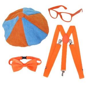 4 шт./компл. Blippi нарядный комплект Blippi шляпа бабочка очки Blippi вечерние украшения для дня рождения аксессуары для детей