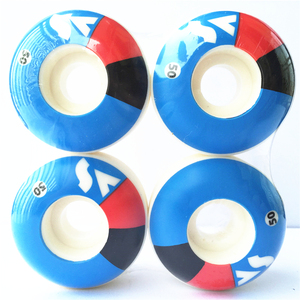 Image 2 - New 4pcs Pro PU Skateboard 51mm 52mm 53mm 54mm Wheels Rodas Skateboarding Parts Wheels 101A  Rodas De Skate