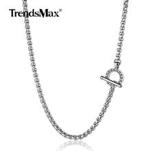 Trendsmax Mens Womens Necklace 4mm Box Link Stainless Steel Chain Silver Necklace 18-36inch DIY 2019 Fashion Jewelry TNS002(Hong Kong,China)