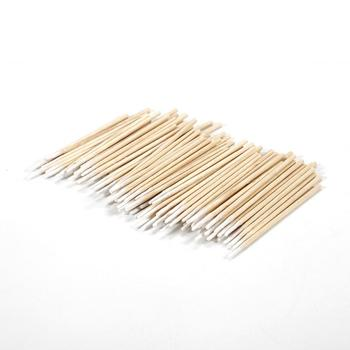 100pcs Cotton Swab Health Makeup Cosmetics Ear Clean Cotton Swab Pointed Head Abacterial Medical Dental Accessories TSLM1