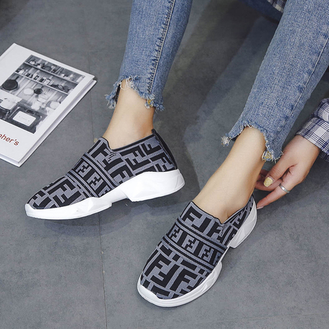 Women Shoes Slip On White Sneakers For Women Vulcanize Shoes Flyknit Basket Femme Super Light Women Casual Shoes Chunky Sneakers Islamabad