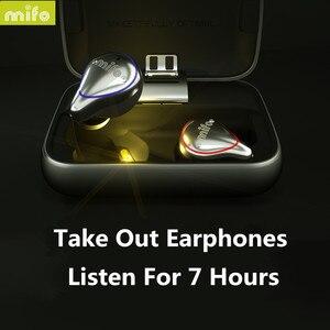 Image 4 - MIFO O5 In Ear słuchawki HIFI oryginalne słuchawki bezprzewodowe Bluetooth 5.0 zestaw słuchawkowy obustronne Mini wodoodporne słuchawki douszne O2 X1 X1E I7 I8 E12 TW100
