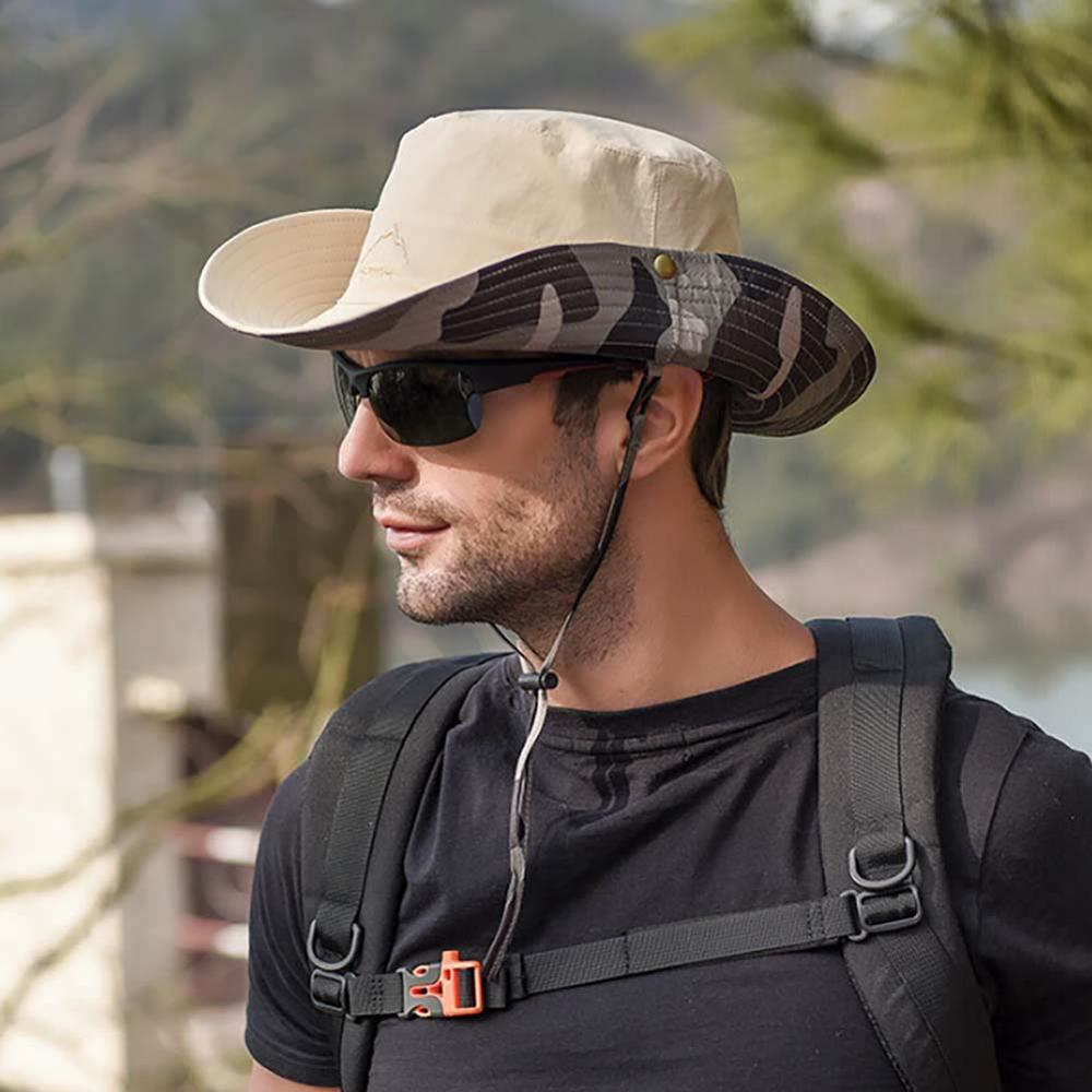Waterproof Fishing Hat Outdoor Sun Hat Summer Boonie For Men Women Foldable Bucket Hat For Fishing