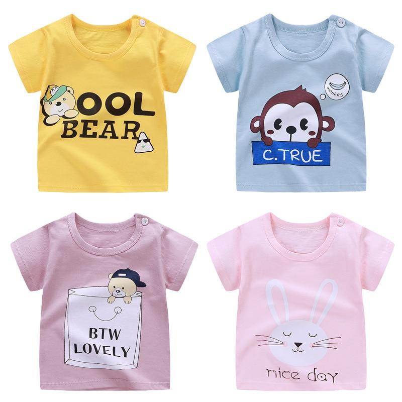 2020 Children T Shirts Cartoon Print Kids Baby Boy Tops Short Sleeve T-Shirt Summer Tee Toddler Girl Shirts Girls Top