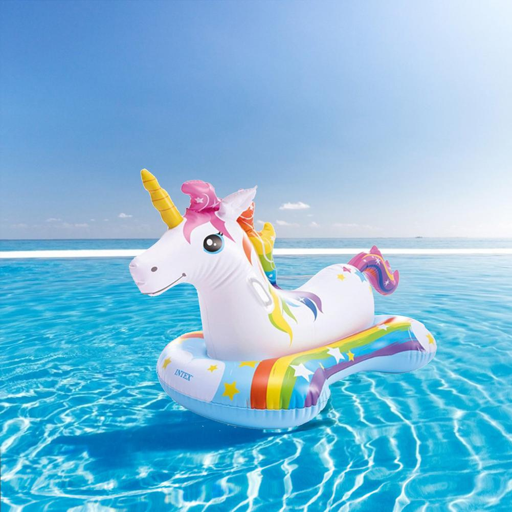 Unicorn Pool Float Ride-On Pegasus Swimming Ring Inflatable Lounge Raft Floating Pool Toys For Adult Children Water Party Toys