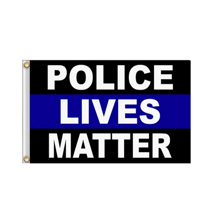 American Blue Police Lives Matter Flag BLM  For Event 3x5 Feet Durable Polyester Thin Line Custom High Quality