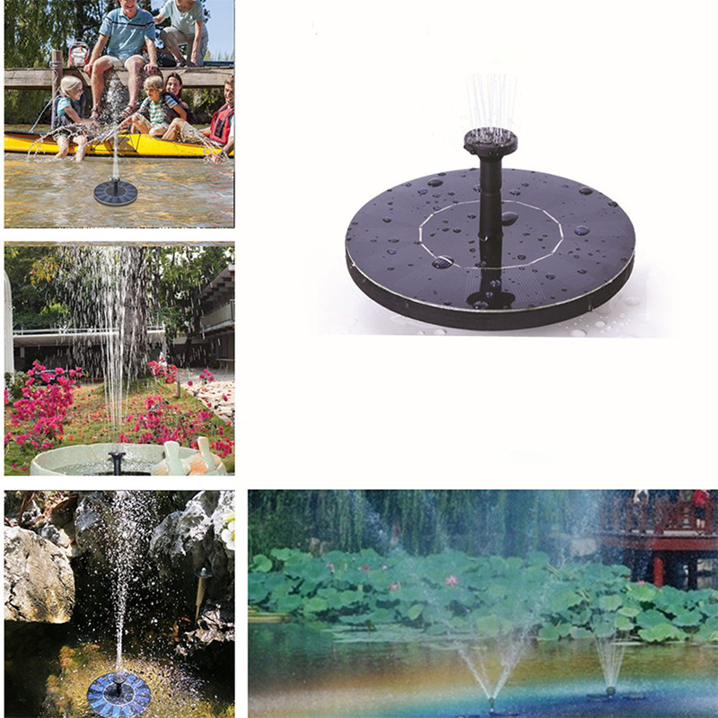 Outdoor Decor MINI Solar Powered Floating Bird Bath Water Panel Fountain Pump Garden Pond Pool Birdbath Fountain