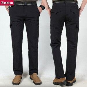 Image 4 - Мужские брюки для походов на открытом воздухе, мужские летние брюки для скалолазания, рыбалки, быстросохнущие спортивные водонепроницаемые брюки в армейском стиле, AM005